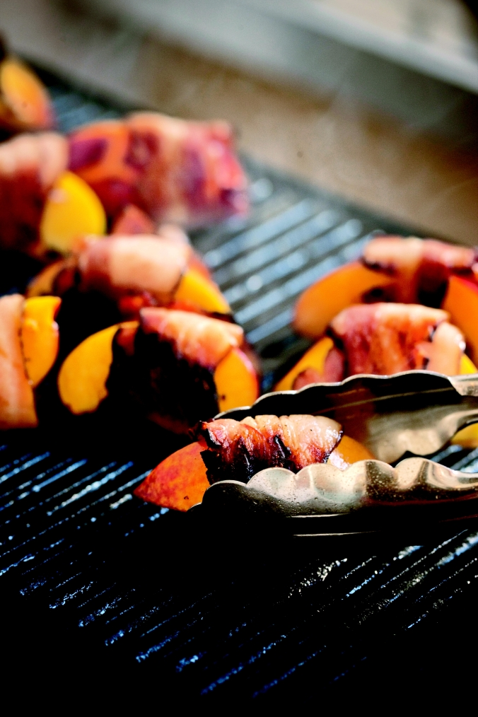 Michael's Genuine Food - Grilled Bacon-Wrapped Peaches PG 56