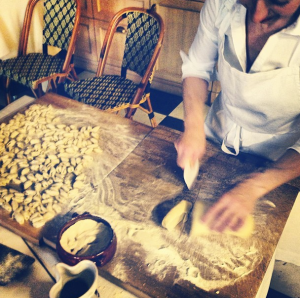 Chef is in Bernalda, on a culinary adventure of his own through the south of Italy. Here from his Instagram, Marisella makes ruccoli, a pasta similar to cavatelli.