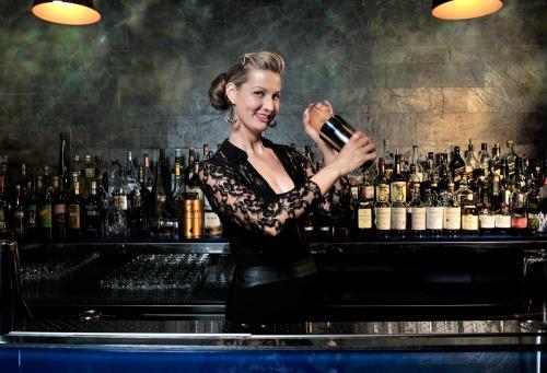 Sarah shaking things up at Hakkasan, and tomorrow at Martini Culture at The Raleigh.