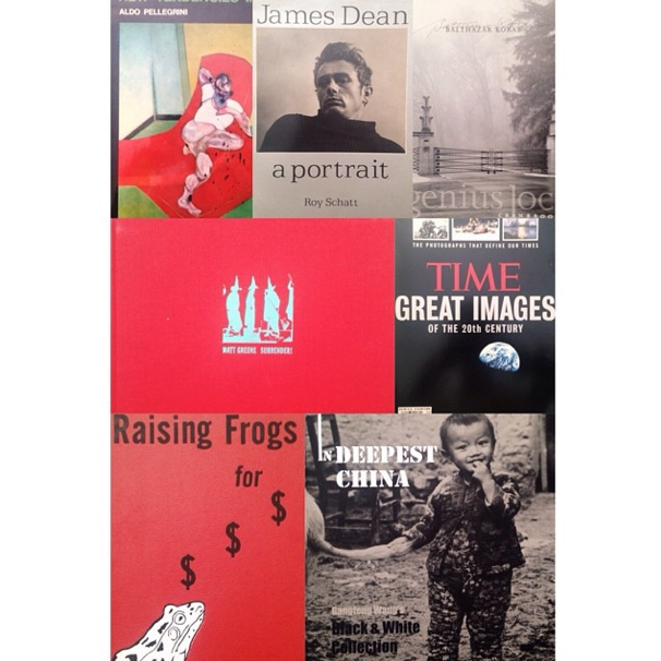 Some of the covers of the books in the new photography collection.