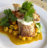 Wood Roasted Local Fish (Cobia) with Chickpeas, Chermoula, Lemon Aioli at Harry's Pizzeria, its Friday Daily Dinner Special