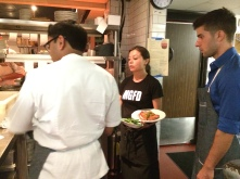 Chef Niven with Food Runner, Xiomara and server Lian