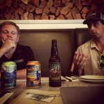 A fun visit at Harry's two months ago from Terrapin's founder and president Jon Cochran with market rep Evan to take some of their new IPA cans. Yum!