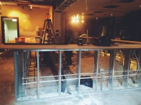 The old bar underwent a complete demo before the new frame was put in place.