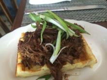 Cheddar Waffle with Short Rib