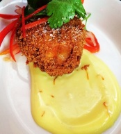 Crispy Octopus with Saffron Aioli