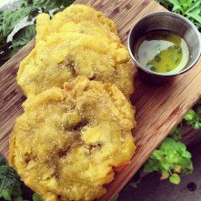 Special snack: tostones w herb garlic butter c/o @chefmschwartz 142 likes