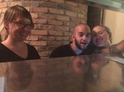 Happy Servers: Christine, Anthony & Kat
