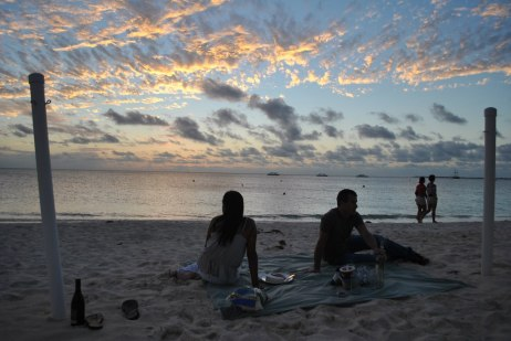 You never forget your first Cayman sunset.