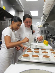 Brittanni and Adriana, pastry queens!