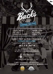 July Bucks Beer Garden Flyer
