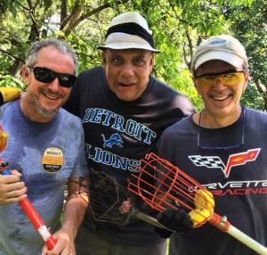 Chef Michael Schwartz, Sunil Bhat and Eric Elliot Mango Hunting during last year's season!