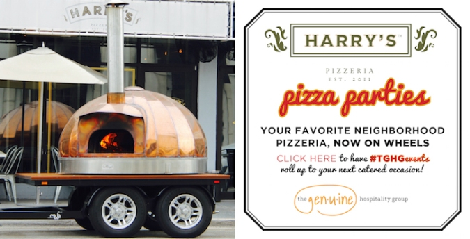 HP Pizza party on wheels