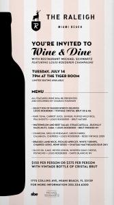 Wine Dinner Flyer