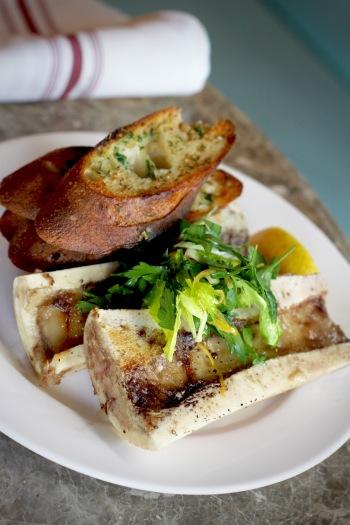 Marrow Bones with Garlic Toast