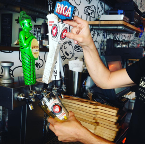 harryspizzeria@harryspizzeria in the Design District is now offering Happy Hour!! Enjoy all beers and wine Mondays through Fridays between 4 and 6 pm half off! For example try a pint of the Rica Wheat IPA from @concretebeachfl #querica #ipa #happyhour #hpdesigndistrict #designdistricthappyhour #beer #wine