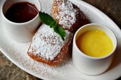 Beignets - chocolate sauce, lemon curd
