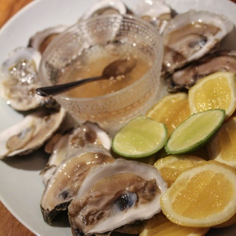 Bivalves and citrus cheeks.