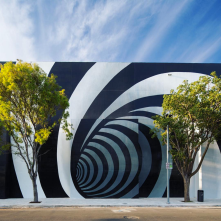 The Vortex on 38th Street is our favorite visual cue for Palm Court Garage (via @MiamiDesignDistrict Instagram)