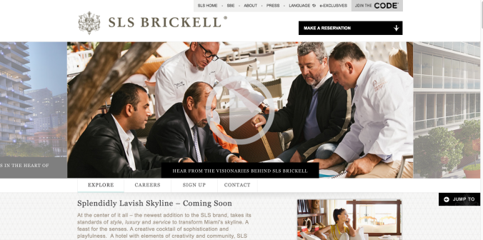 SLS Hotel Brickell Splash