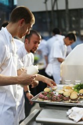 TGHG Executive Chef & Michael Schwartz Events rocking out the Israeli Cuisine.