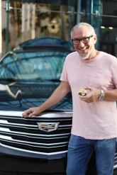 Michael and his new Cadillac hood ornament at last Friday's OMG! Picnic & a Movie, the second of three Summer Series events.