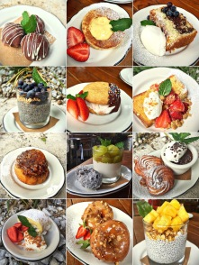March 2016: malted milk sweet bun, chocolate pot de creme with mini crullers and passionfruit voulevant...