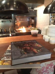 Short rib cover shot and our main dish at Cypress Tavern's Slow Fires cookbook dinner.