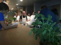 Pre-shift with Chef and the Fi'lia team