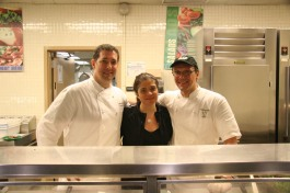 Birds of a feather... chefs Michael Anthony, Alex Guarneschelli, and Mr. Bill!
