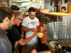 The fun began in July when Michael and Mark first tested the Shack-cago Dog mashup now known as the Shack-ago Pizza.