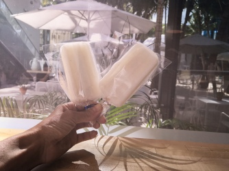 Poppin' Like Its Hot: Ella's lychee vodka popsicles, better than a tall drink of water on a Miami summer day!