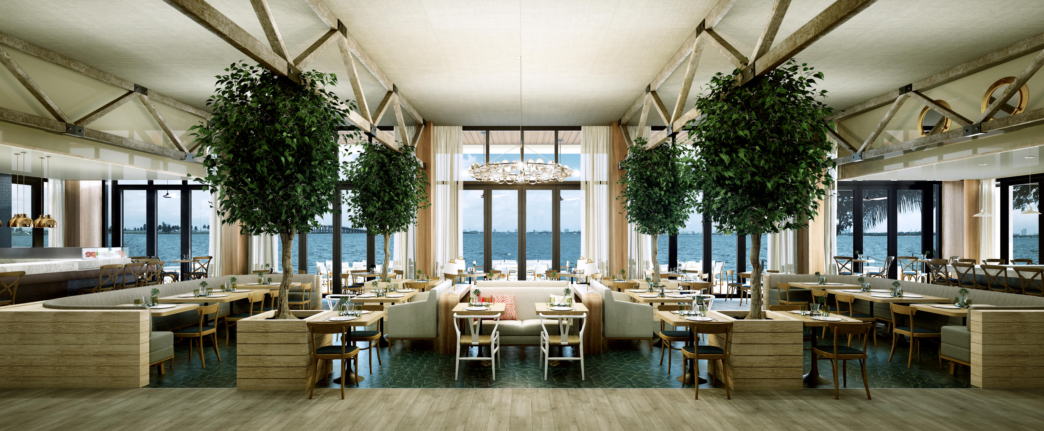 Amara at paraiso quintessential miami restaurant with Amara homes