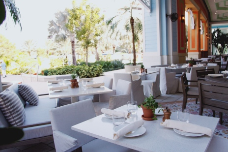 Ample, open air outdoor seating.