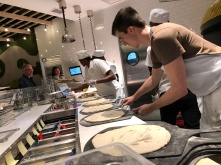 Dylan cranking out hand-formed dough at hyperlapse speed.