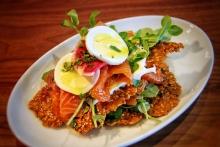 Beet & Turmeric-cured Salmon