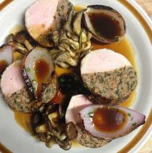 Pork loin and garlic sausage