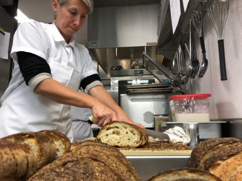 We source some bread from Sullivan Street Bakery in Miami via NYC. This is the doppio loaf and Myrtille doesn't let anything go to waste. Hells come home!