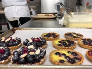 Fresh Blueberry Tart, a new sweet cart item comes together Sunday Morning.