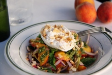 Peach and Burrata. Everything has to be right for it to work.