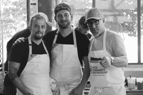 Tim Piazza, with Brad and Michael at the 2016 Great Chefs Event.