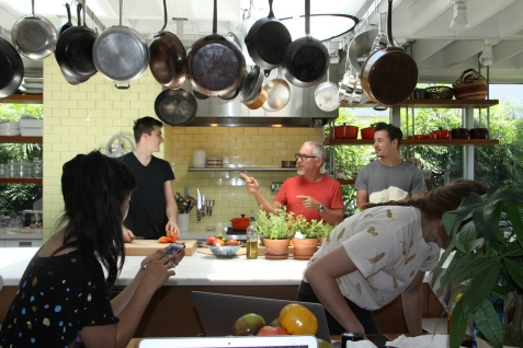 The cookbook photoshoot made a stop in Chef's home kitchen.