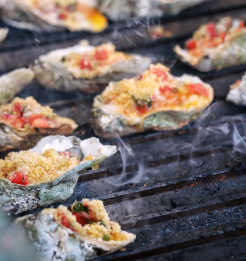 Grilled Oysters for this Sunday's Beach Party installment
