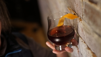 Walnut bitters in this twist on an Old Fashioned.