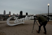 Capturing time at the Tremont Cleveland sign,