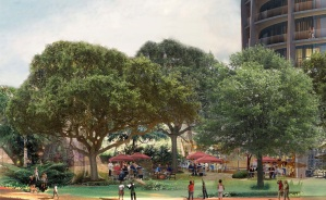 Park rendering (at intersection of Tigertail Avenue and Mary Street)